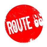 Route 66 rubber stamp Royalty Free Stock Photography