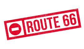 Route 66 rubber stamp Royalty Free Stock Photos