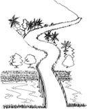 Route rurale illustration de vecteur