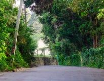 Route rurale dans Nuwara Eliya, Sri Lanka photographie stock libre de droits