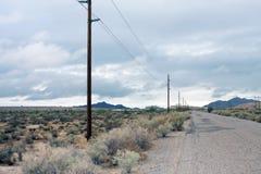 Route rurale de désert de l'Arizona Images libres de droits