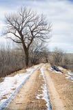 Route rurale de l'hiver photos libres de droits