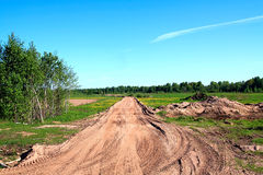 Route rurale de vieillissement Photo stock