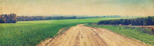 Route rurale Labourage de la zone Images libres de droits