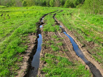 Route rurale sur le pré Images libres de droits