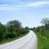 Route rurale vers le haut Photos libres de droits