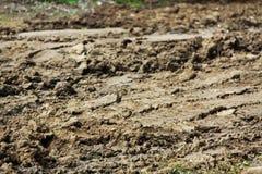Route sale de boue Image libre de droits