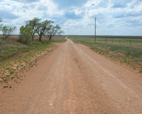 Route 66 : Saleté 66, Jericho Gap, Alanreed, TX Photographie stock