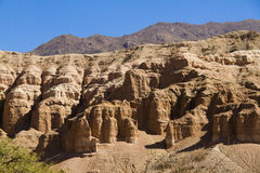 Route 40 in salta, wind erosion Royalty Free Stock Image