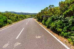 Route sans fin, île de la Madère Photos stock