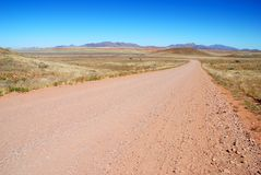 Route sans fin Images libres de droits
