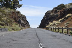 Route sans fin dans Ténérife Images stock