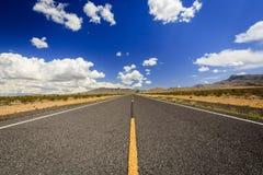 Route sans fin 91 près de Littlefield Images stock