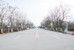 Route sans voiture Images stock