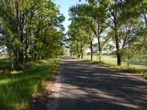 Route sans voitures photographie stock