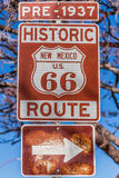 Route 66, Santa Fe, New Mexico Royalty Free Stock Photo