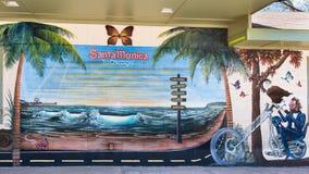 Route 66: Santa Monica till Chicago, Seligman, AZ Fotografering för Bildbyråer