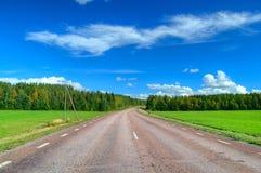 Route scénique de chute en Suède Photographie stock libre de droits