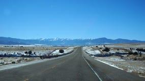 Route scénique de désert, Etats-Unis Images stock