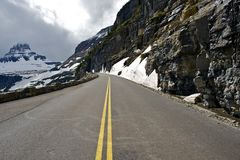 Route scénique de montagne Photographie stock libre de droits
