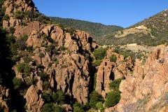Route scénique de montagne de Mingus Images libres de droits