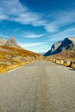 Route scénique de Trollstigen en Norvège Photo stock