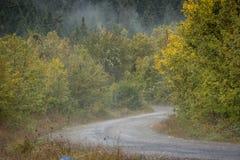 Route scénique en montagnes Photo stock