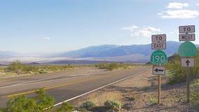 Route sc?nique par le parc national de Death Valley clips vidéos