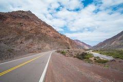 Route scénique de montagne Images libres de droits