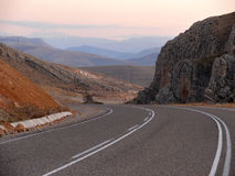 Route serpentine. La Turquie. Image stock