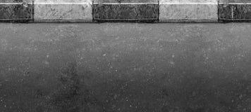 Route (seulement horizontale) sans couture avec la frontière Photographie stock