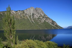Route of the seven lakes near Bariloche Stock Photos