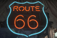 A route 66 sign Stock Images