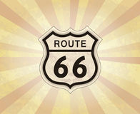 Route 66 sign. American road icon. Travel USA retro background. Stock Photography