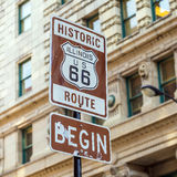 Route 66 sign in Chicago Royalty Free Stock Photos