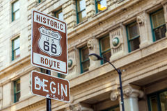 Route 66 sign in Chicago Royalty Free Stock Photography