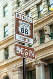 Route 66 sign in Chicago Stock Photography