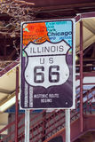 Route 66 sign in Chicago Stock Photos
