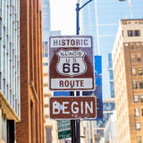 Route 66 sign in Chicago Royalty Free Stock Images