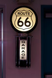 Route 66 sign in diner Albuquerque, NM Stock Image