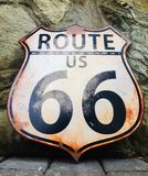 Route 66 sign. Head out on a road trip with this vintage US Route 66 sign royalty free stock photography