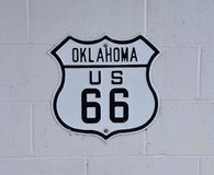 Route 66 sign in Oklahoma. Historic U.S. old Route 66 sign in Oklahoma Stock Photography