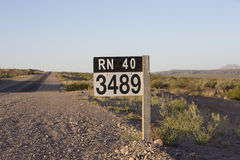 Route 40 sign road in north of Argentina Stock Image