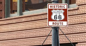 Route 66 sign. In Chicago, Illinois Stock Photo