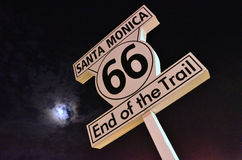 Route 66. Sign in Santa Monica Royalty Free Stock Image