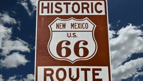 Route 66 Sign with Time Lapse Zoom stock footage