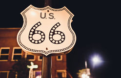 Route 66 sign royalty free stock photo