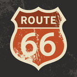 Route 66 sign vector illustration