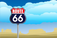 Route 66 sign Stock Photography