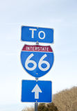 Route 66 sign in Virginia Royalty Free Stock Photos